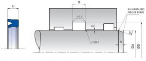 SIL 6x9x3,5 U-manschett PU