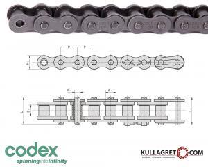 8mm (05B-1) Rullkedja Simplex Codex