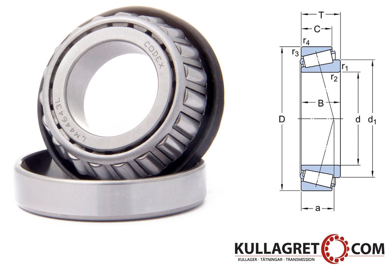 CR 0643L Koniskt Rullager