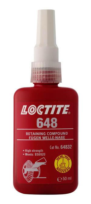Loctite 648 50ml Cylindrisk fastsättning