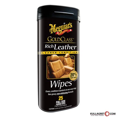 Gold Class Rich Leather Wipes | Meguiars