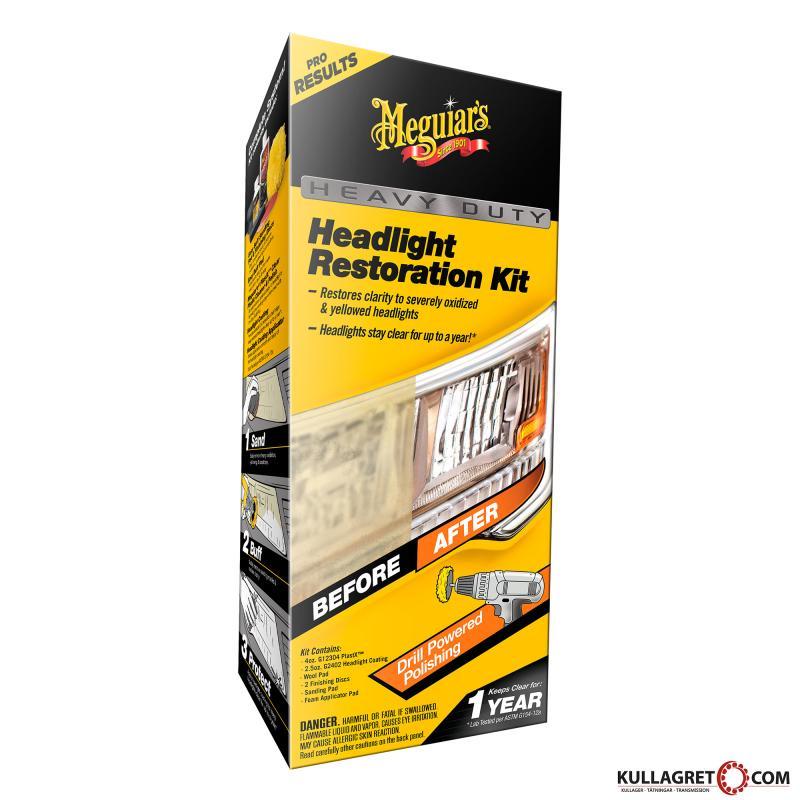 Heavy Duty Headlight Restoration Kit | Meguiars
