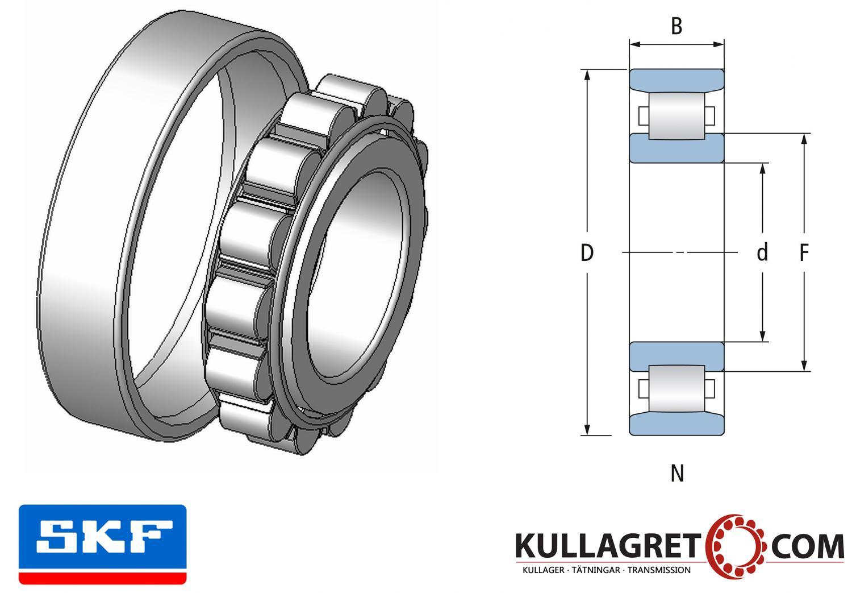 N 205 ECP Cylindriskt Rullager