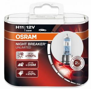 H11 Osram Night Breaker Unlimited 2-pack