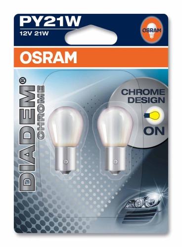 PY21W DIADEM CHROME ORANGE 12V OSRAM 2-PACK