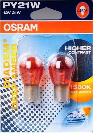 PY21W Orange 12V 21W Osram 2-pack