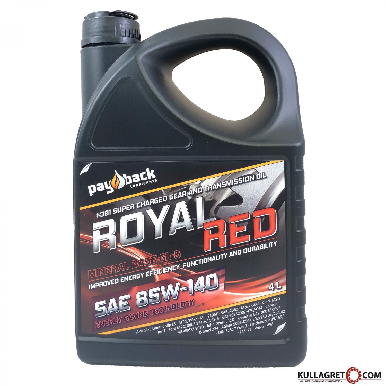 PAYBACK #391 85W-140 Royal RED Växellådsolja