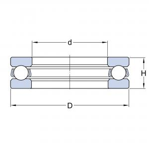 2900 Axialkullager  Enkelverkande NACHI