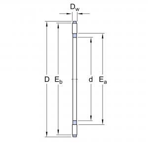 AXK 1024 (AXK 1100) Axialnålkrans NTN / INA