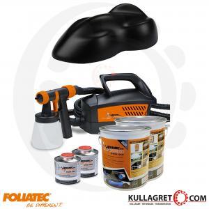 Svart Matt Foliatec Spray system inkl.kompressor