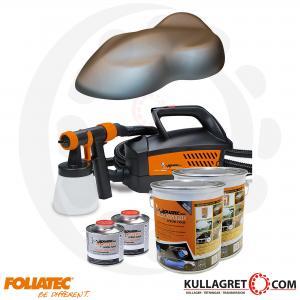 Silver Metallic  Matt Foliatec Spray system inkl.kompressor