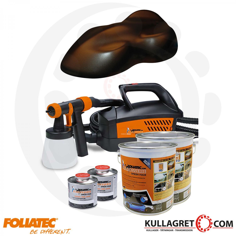 Frozen Brown Metallic Foliatec Spray system inkl.kompressor