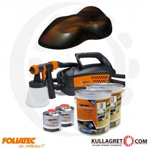 Frozen Brown Metallic Foliatec Spray system inkl.kompressor