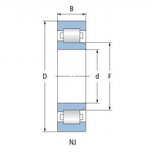 NJ 206 ECP C3 Cylindriskt Rullager FAG
