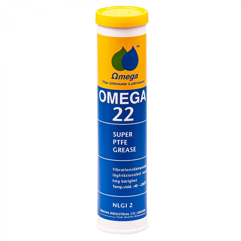 """Omega 22 Lågfriktionsfett """"PTFE"""" PATRON 400g"""