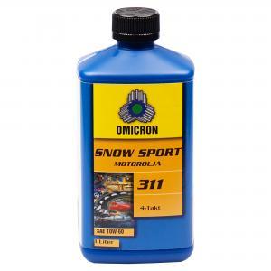 """Omicron 311 10W-60 4-T Motorolja """" Snow Sport Syn"""" 1L"""