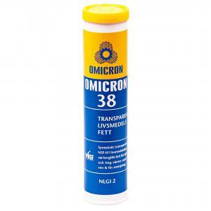"""Omicron 38 Crytal Clear FG """"Livsmedelsfett"""" 400g Patron"""