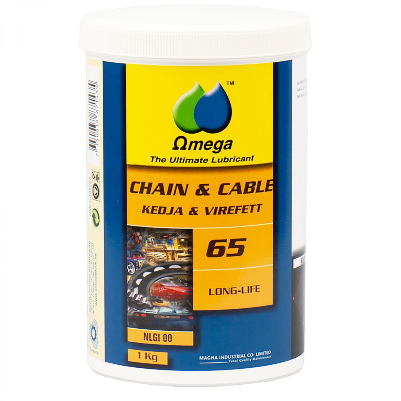 Omega 65 Kedje- och Wirefett NLGI 00 / Patron 400g