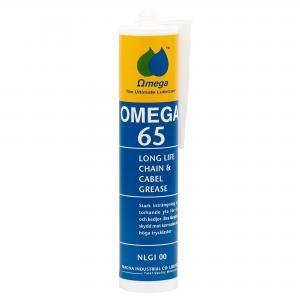 Omega 65 Kedje- och Wirefett NLGI 00 / Kittpatron 300g