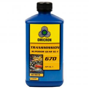 Omicron 670 80W-90 Superior GL-1 Växellådsolja 1L