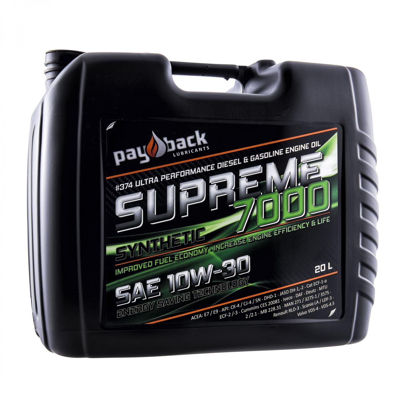 Payback #374 10W-30 Supreme 7000 Motorolja 20L