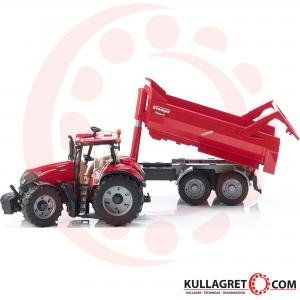 Case IH Optum 300 CVX Traktor med Krampe tippvagn | BRUDER 1:16