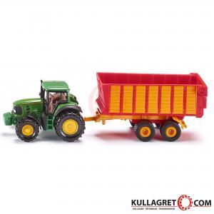 John Deere traktor med vagn | SIKU 1:87
