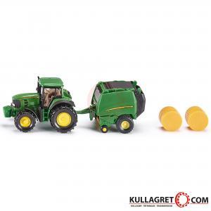 John Deere traktor med Balpress | Siku 1:87