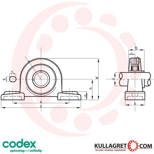 UCP 217 Lagerenhet CODEX