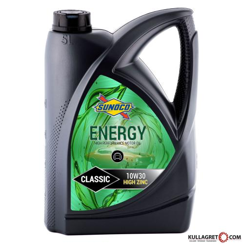 "Sunoco 10W-30 Energy Classic ""ZINK"" Motorolja 5L"