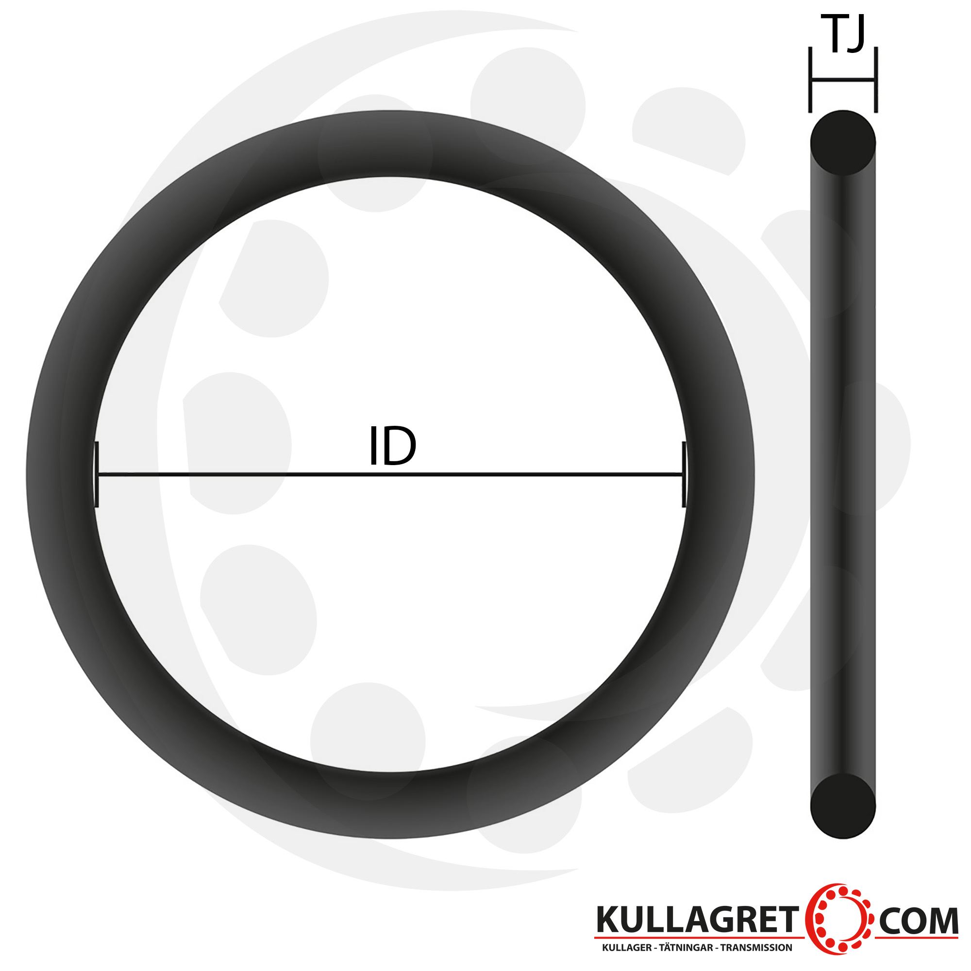 2 St. O-Ring Nullring Rundring 88,0 x 5,0 mm NBR 70 Shore A schwarz