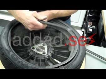 Omläggning däck på fälg/hjul