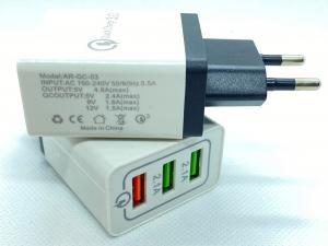 Snabb nätladdare 3 st USB-A