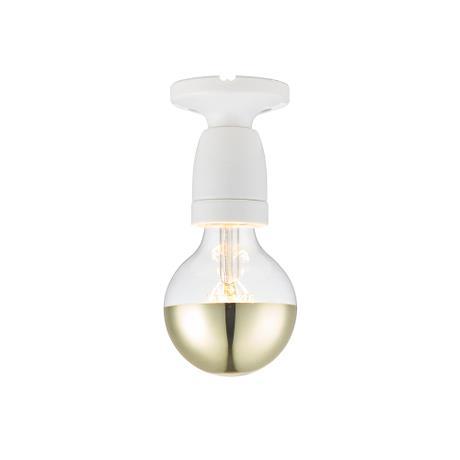 Porslin vägg-/loftlampa, vit