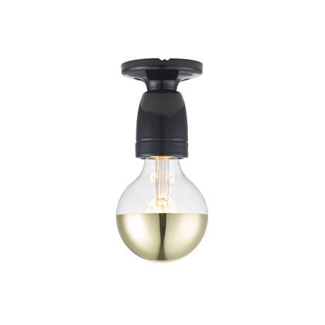 Porslin vägg-/loftlampa, svart