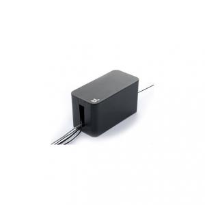 Cablebox mini svart, perfekt för att gömma grendosor och sladdar.