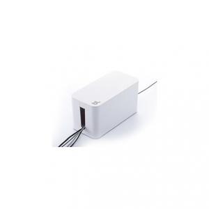 Cablebox mini vit, perfekt för att gömma grendosor och sladdar.