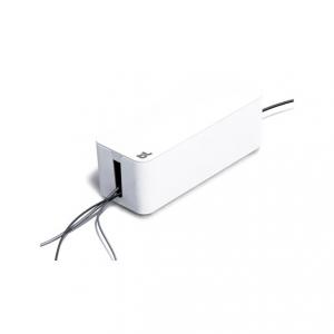 Cablebox vit, perfekt för att gömma grendosor och sladdar.
