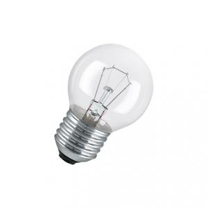 Klassisk 11W glödlampa klotformad. Med en E27 sockel och klarglas.