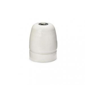 Lamphållare E27 porslin vit, jordad