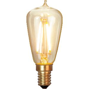 filament led edison med e14 sockel och extra varmt ljus.