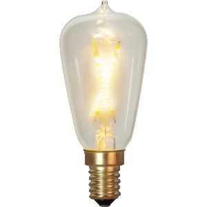filament led edison med klarglas och E14 sockel.