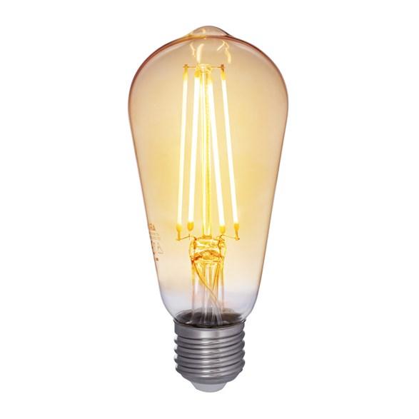 Filament LED-lampa E27 edison med antique glas. Motsvarande 35W glödlampa. Dimbar.