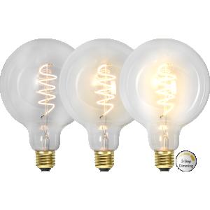 Filament led glob med tre stegs dimring. Ger ett vackert ljus.
