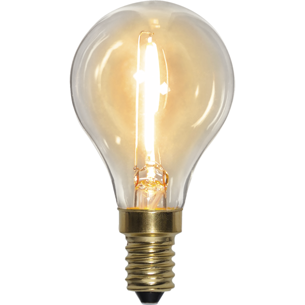 Filament-LED klot 0,8W(10W) E14, soft glow