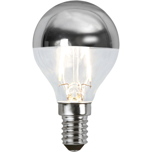 topförspeglad filament led klot med E14 sockel.