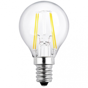 Filament LED-lampa E14 klot lampa. Motsvarande 25w glödlampa.