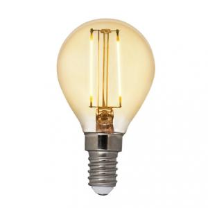 Filament LED-lampa E14 klot med antique glas. Motsvarande 15W glödlampa. Dimbar.