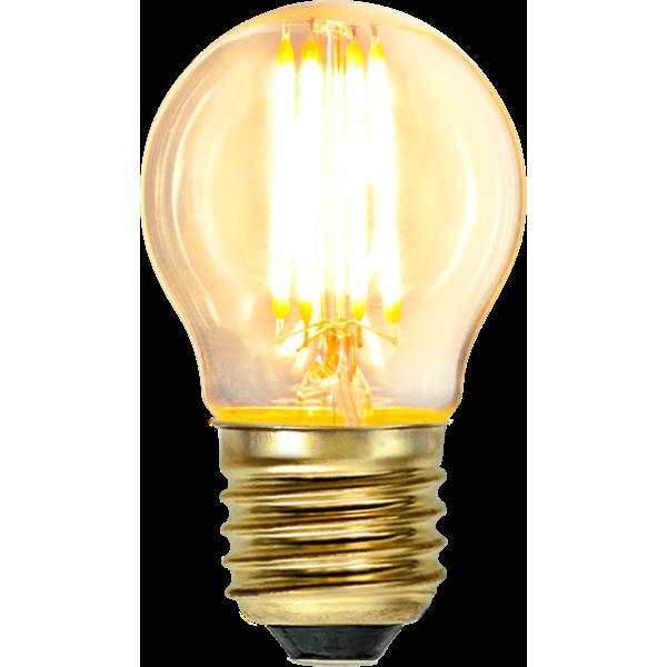 Filament-LED klot 4W(35W) E27, soft glow dimbar