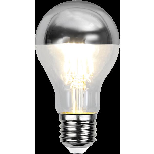 toppförspeglad filament led normal med E27 sockel.